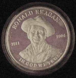 Ronald Reagan 999 Fine Silver Rounds